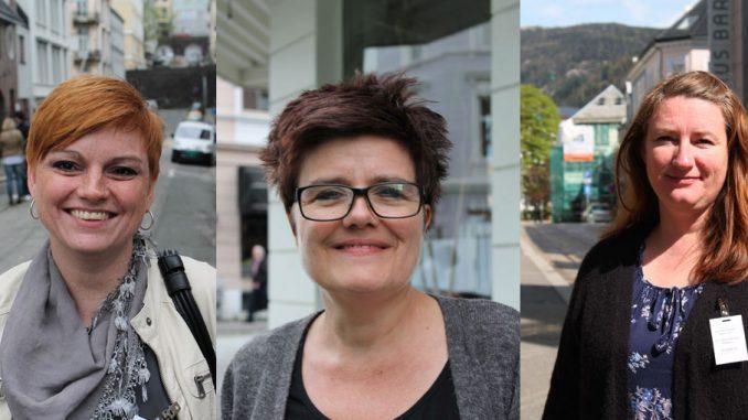 Tre vernepleiere på SOR konferanse