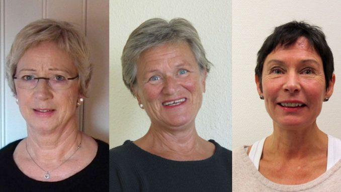Vernepleierne Inger Nordlund, Anne Thronsen og Sølvi Linde