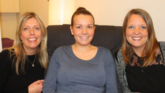 Vernepleierne Astrid Stø, Therese Gjesdal og Benedikte Paulsen Simonsen