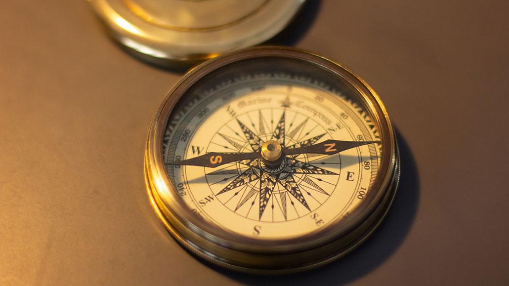 Gammelt sjøkompass