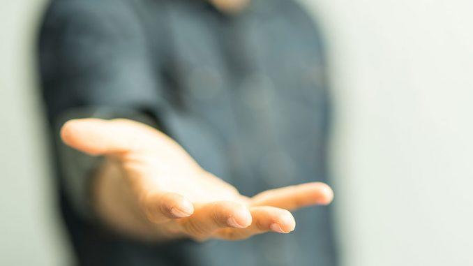 En utstrakt hand