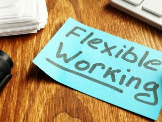 Post It lapp med teksten Flexible Working