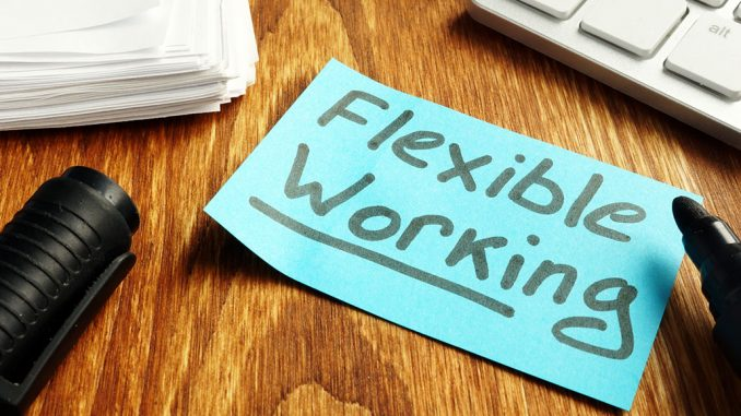 Post It lapp med teksten Flexible Working