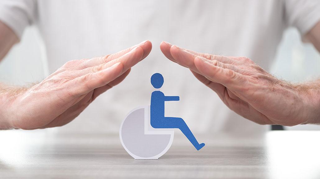 To hender verner over ikonet for funksjonsnedsettelse